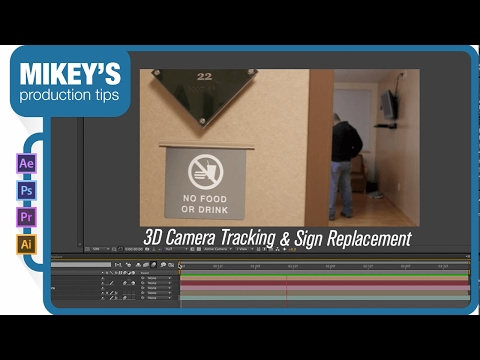 Sign Replacement w/ 3D Camera Tracker in After Effects