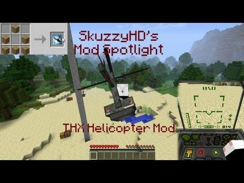 Minecraft mod spotlight thx helicopter mod 1 1