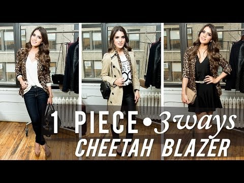 1 Piece, 3 Looks: Cheetah Blazer