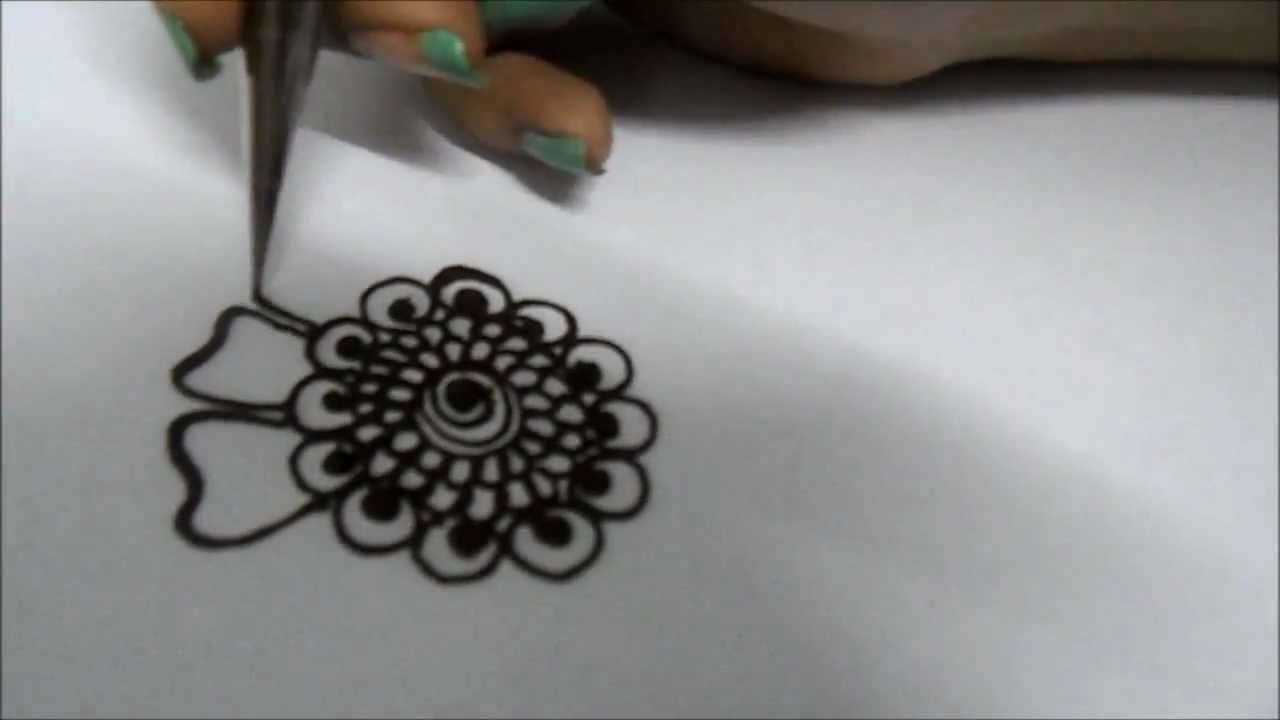Mehndi Flower Easy Design : Mehndi design how to draw a flower youtube