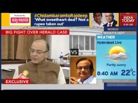 Exclusive: Jaitley, Chidambaram's War Of Words On National Herald Case