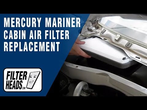 Cabin Air Filter Replacement Mercury Mariner Youtube