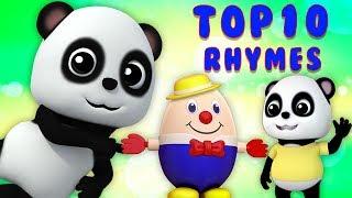 Топ десять детские стишки | ребенок бао панда | Top 10 Rhymes For Kids | Baby Bao Panda Russia
