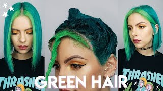 LIME & DARK GREEN HAIR DYE