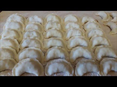 ВАРЕНИКИ Заварное тесто для вареников Рецепт вареников с картофелем и ливером