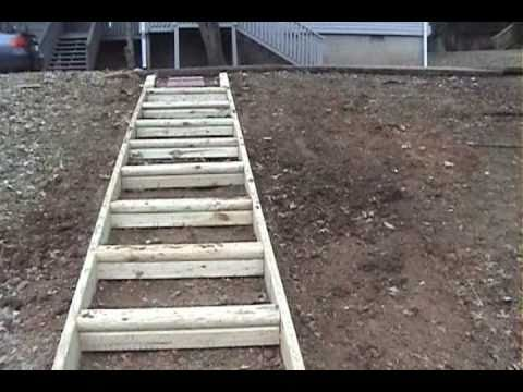 How to build wood steps up a hill pdf woodworking for Steps on building a house