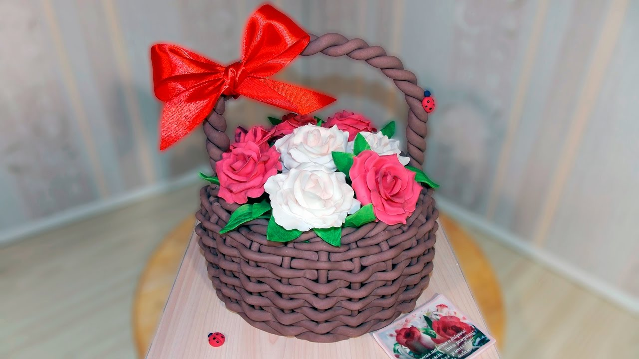 Торт корзинка своими руками из