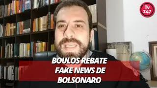 Boulos rebate fake news de Bolsonaro