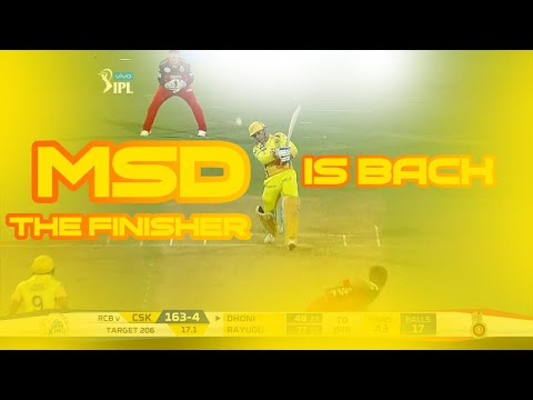 CSK VS RCB IPL 2018 - MACTH HIGHLIGHTS - MSD IS BACK!!!