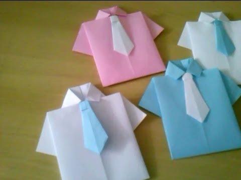 Lembrancinha para o dia dos pais com dobradura em papel