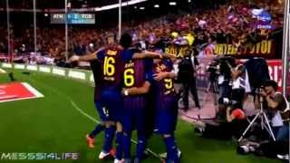 Barcelona 3-0 Athletic bilbao Barca Copa Del Rey Champions 2012 Full Highlights HD