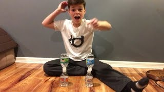 INSANE MINI WATER BOTTLE FLIP TRICK SHOTS 2