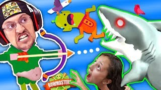 MOMMY, CAN I SHOOTA SHARK PWEEEZ?! 🌊 BOWMASTERS Game w/ FGTEEV Duddy Chunky Boy (Skit)