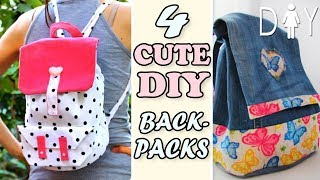4 THE BEST DIY BACKPACK TUTORIALS YOU CAN EASY MAKE IN 25 MIN