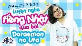 Luyện nghe tiếng Nhật qua bài hát Doraemon no uta | Tự học tiếng Nhật | Akira Education