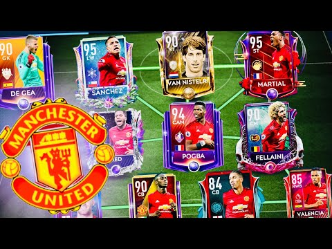 FIFA MOBILE 19  Best Manchester United Team with IconsMaster SanchezMartialPOTM PogbaDe Gea