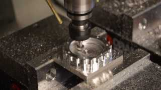 Real time benchtop 3D milling of a large bottle cap (pt. 2 of 3) (Torus Pro, SolidCAM, 6061)