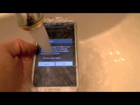 جالكسي اس 4 ضد الماء!! Galaxy S4 Anti Water