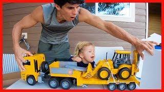 NEW BRUDER BACKHOE CONSTRUCTION TRUCK FOR KIDS!
