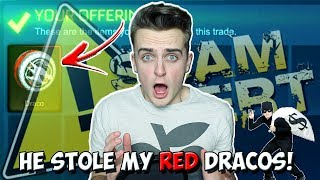 SCAMMER STEALS MY CRIMSON DRACOS IN ROCKET LEAGUE! | Pixel Gets Scammed: SCAMMER EXPOSED