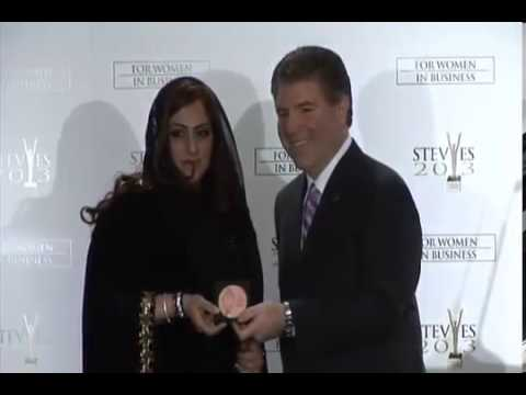 Sahar AlZarei of HIPA wins a Bronze Stevie Award at the 2013 Stevie Awards for Women in Business