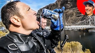Found it River Treasure Diving and Had to Drink It... ROFL (Testing FiFish Underwater Drone)