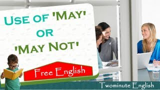 Use of May or May Not, English Grammar Lesson
