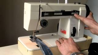 Sewing machine Швейная машина Pfaff HobbyMatic 800 test х\б, джинс, кожа.