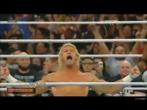 WWE RAW Dolph Ziggler cashes in the MITB New World Heavyweight Champion!!