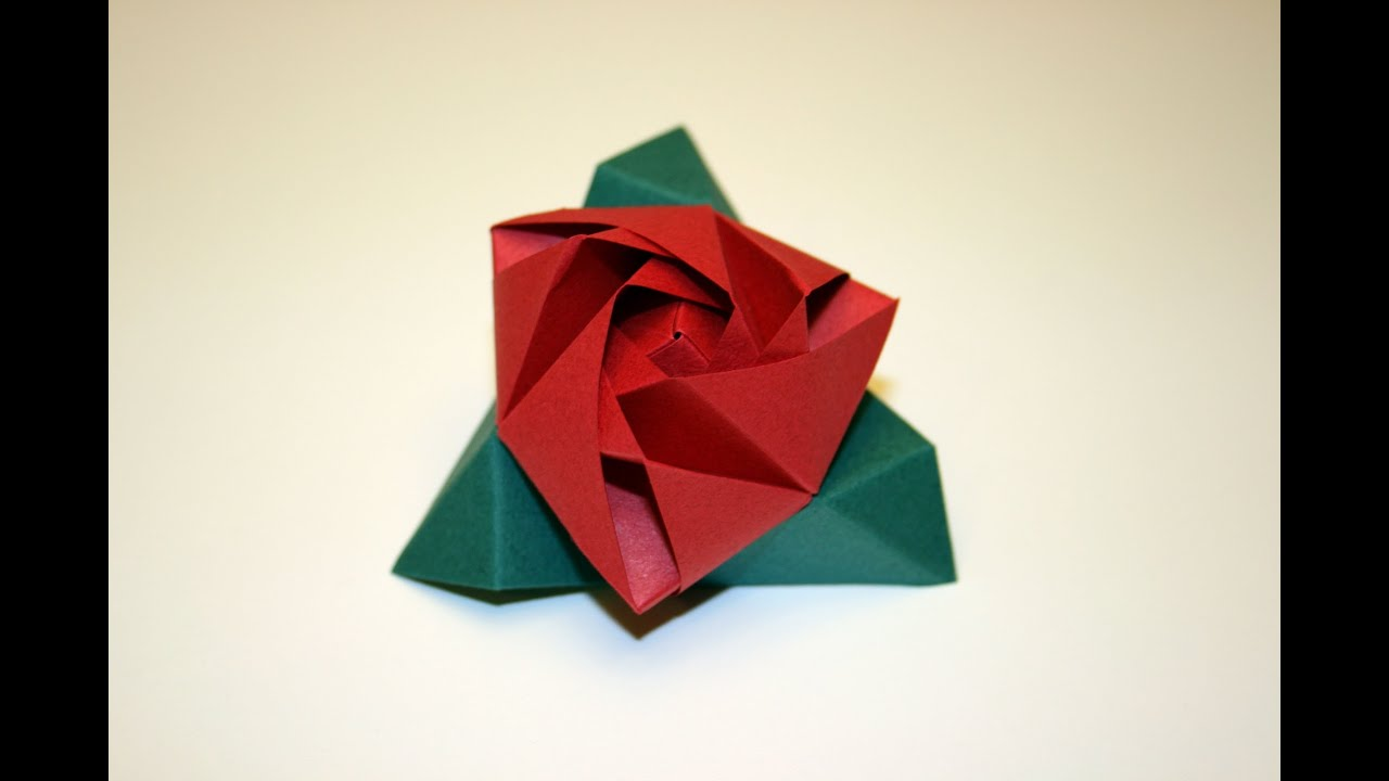 Origami tutorial - Magic Rose Cube - YouTube - photo#8