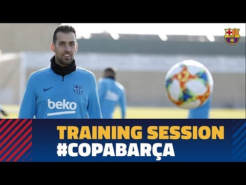 First Training Session To Prepare The Cup Match Against Sevilla
