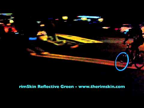 therimSkin.com: REFLECTIVE GREEN GLOW RIM SKIN DEMO