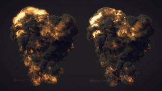 Particle tests (12) FumeFX Explosions Particle Meshing HD!
