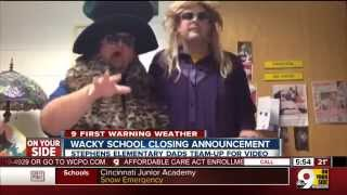Wacky snow day school closing announcement