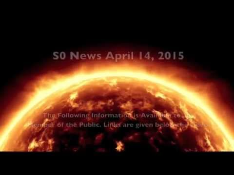 Space-Weather, Saturn Storms, Mars Water | S0 News April 14, 2015