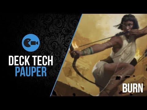 Deck Tech  Burn Pauper Versão Atualizada