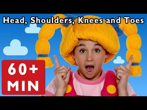 Head, Shoulders, Knees And Toes And More | Nursery Rhymes From Mother Goose Club! video