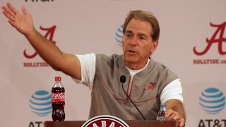 Nick Saban rant about not taking satisfaction in success