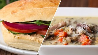 Chicken And Wild Rice Soup And Sandwich • Tasty