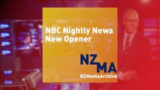New NBC Nightly News open
