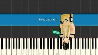 Minecraft Song /Psycho Girl 3 - Fight Like A Girl ♫ Piano Version ♫ Synthesia