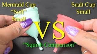 "Mermaid Cup Soft vs Saalt Cup Small ""Squish"" - Menstrual Cups"