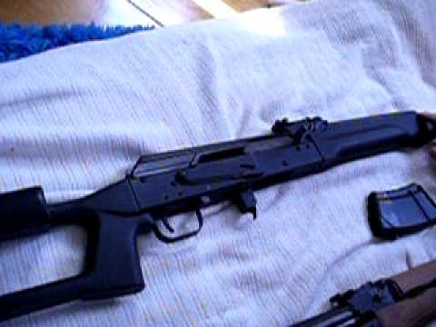 Comparing a Saiga Rifle and a Romanian AK47