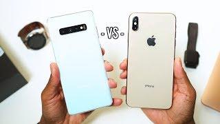 Samsung Galaxy S10 Plus vs iPhone XS Max Review SLUGFEST Part 1