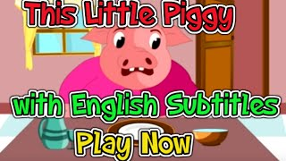 This Little Piggy with English Subtitles - Nursery Rhymes & Songs in HD