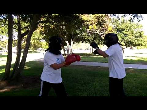 Wing Chun (red gloves) vs Tai Chi / San Shou - hands only Image 1