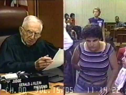 Woman flashes judge