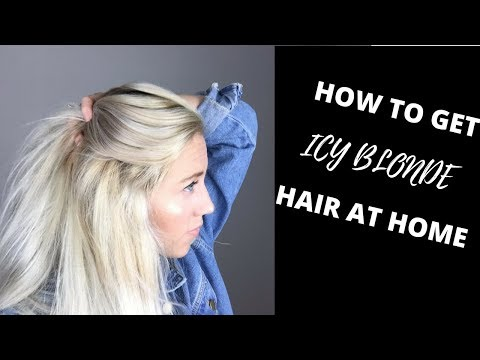 HOW TO GET ICY BLONDE HAIR AT HOME | WELLA T18 TONER | SUPER EASY streaming vf