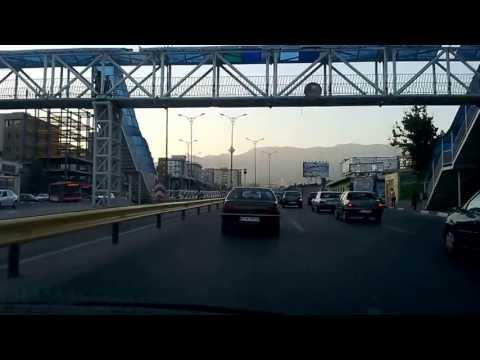 A 10 minute taxi drive through Tehran, Iran