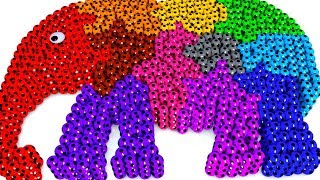 Baby Elephant Shape with So Many Colorful Soccer Balls For Toddlers #z Children Babies Learning